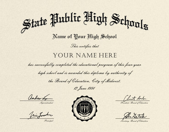 Us High School Diploma Style 5 Buy Diploma Online