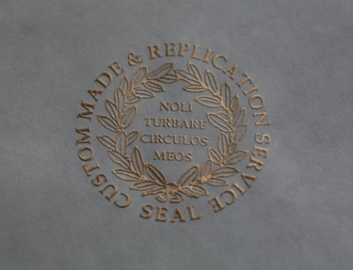 Embossed Shine Gold Seal