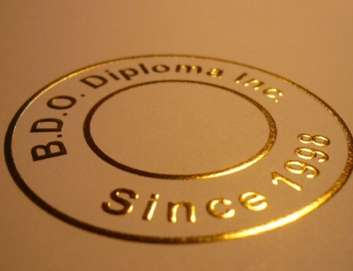 Embossed Gold Seal – Shine