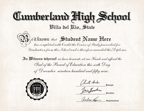 printable high school diplomas
