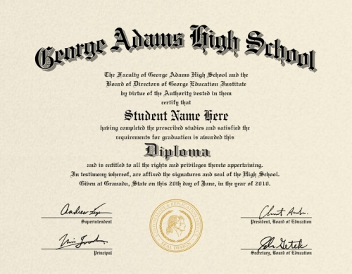 Us high school diploma style 2 buy diploma online for Free fake high school diploma templates