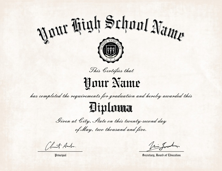 US High School Diploma Style 2 | Buy Diploma Online