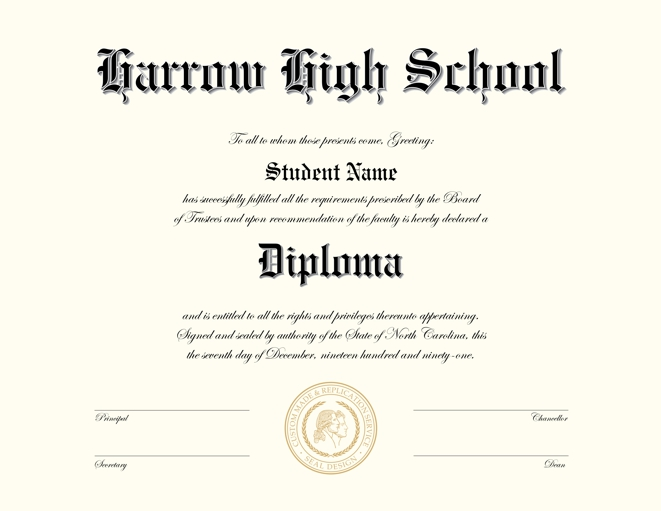 Fake high school diploma