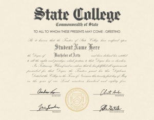 us college diploma style 1