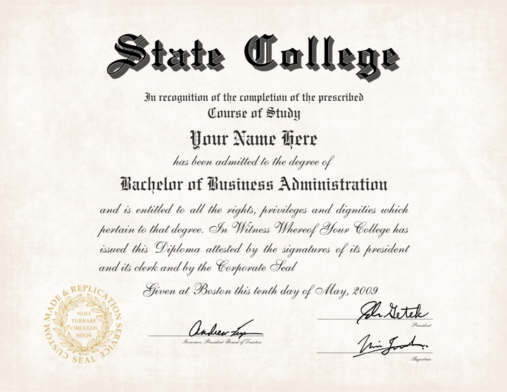 Us college diploma style 5 buy diploma online for Fake college degree template