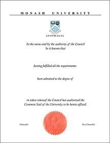 fake Australia diploma certificate