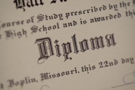 Realistic copy of high school diploma