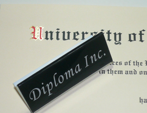 Diploma with Color Foiling on Title