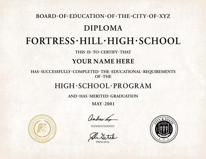 Fake High School Diplomas