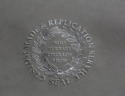 Embossed Silver Foil Seal