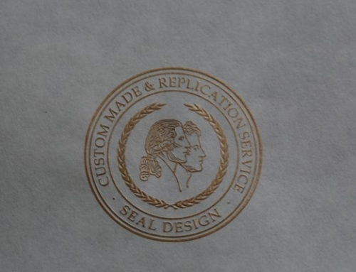Embossed Dull Gold Seal