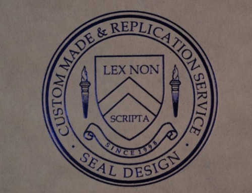 Embossed Blue Foil Seal