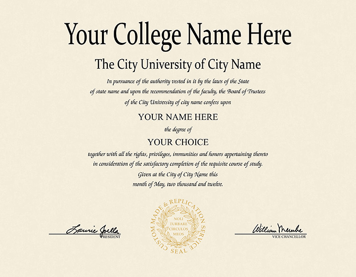 US College Diploma Style 4