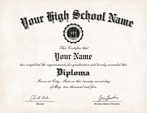 Where can i get a fake high school diploma