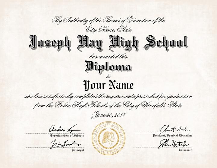 high school diploma name. Black Bedroom Furniture Sets. Home Design Ideas