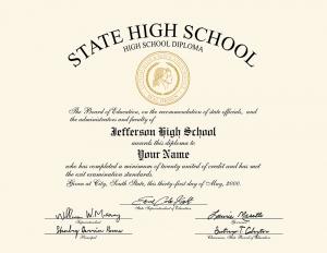 HS diploma style 13