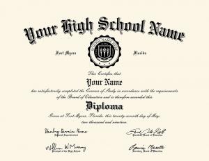 HS diploma style 2