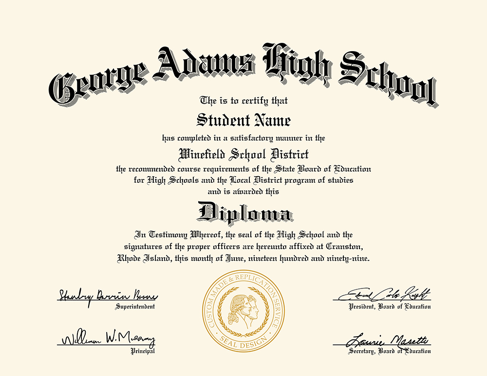 us high school diploma style 4