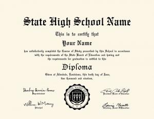 HS diploma style 6