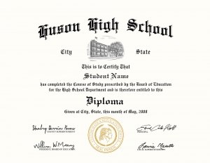 HS diploma style 7