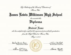 HS diploma style 8