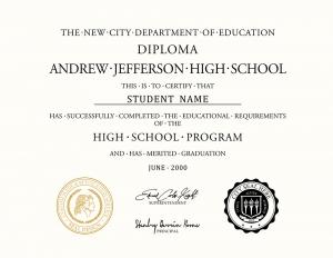 HS diploma style 9