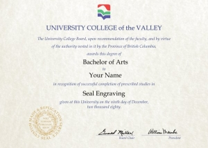 university college of valley fake diploma from canada university