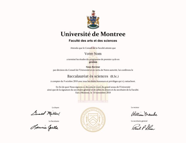 university of montree fake diploma from canada university